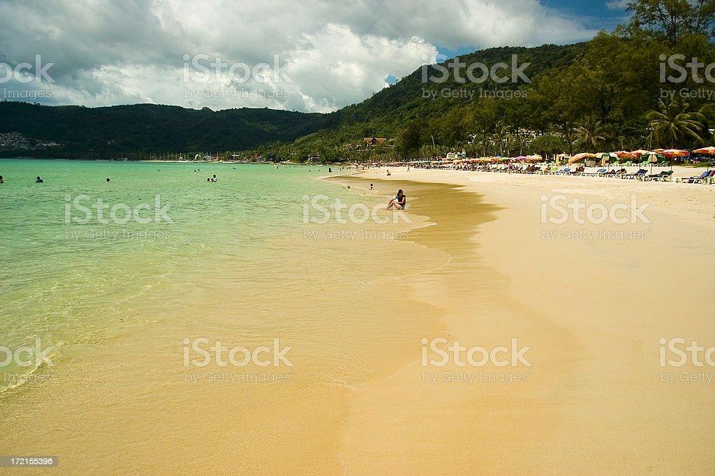 patong beach stock photo
