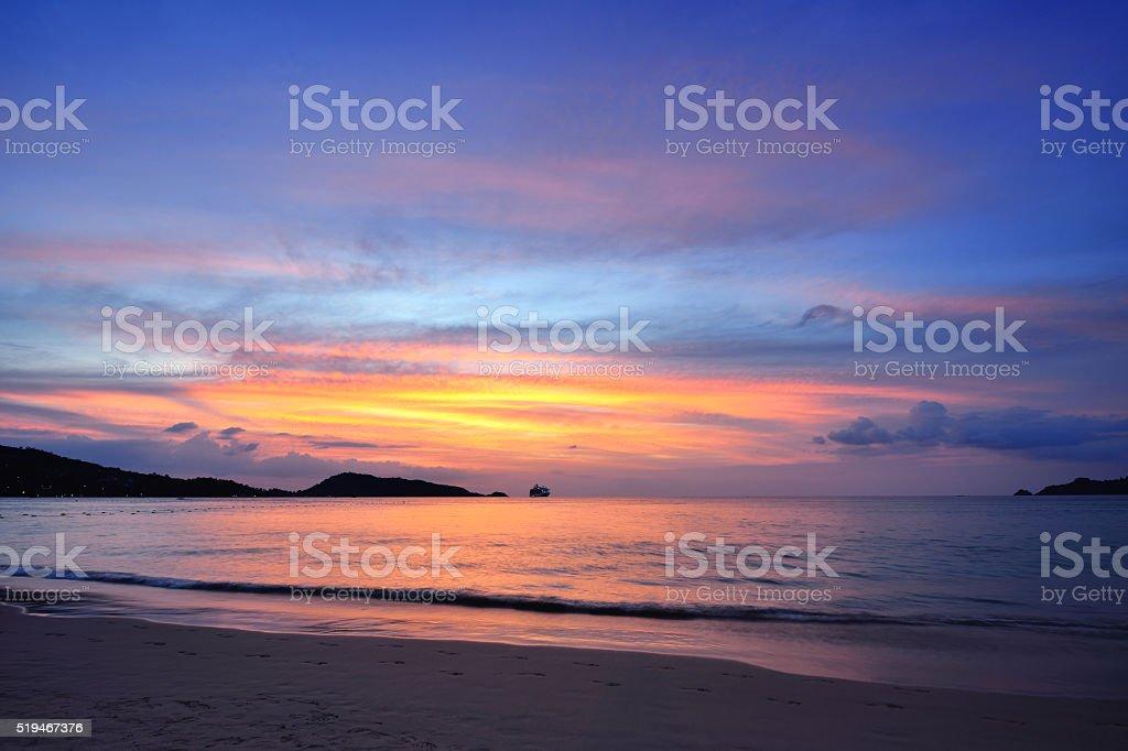 Patong Beach Seascape, Phuket stock photo