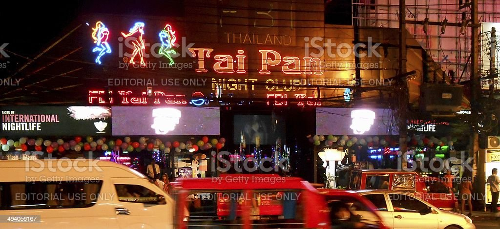 Patong crowdy nightlife, Thailand stock photo