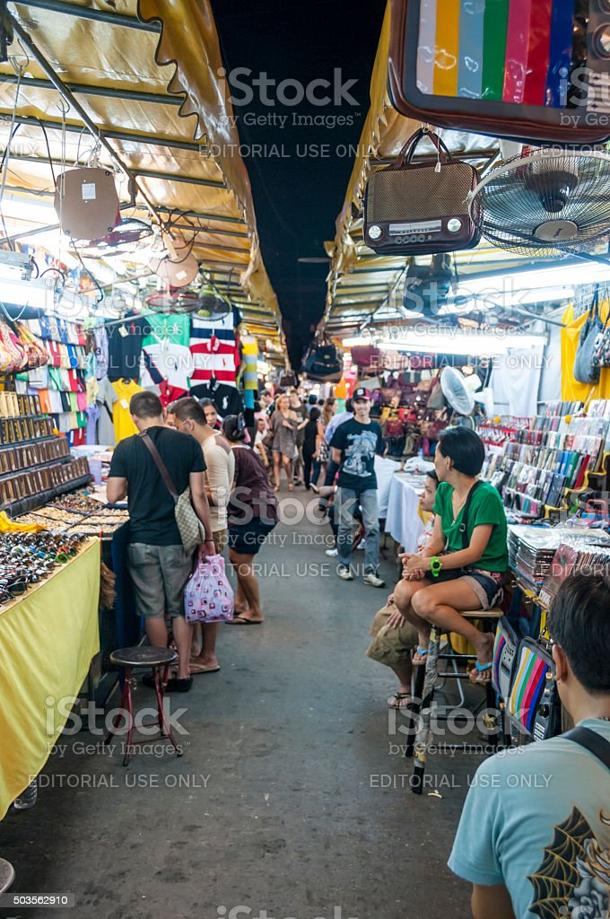 Patpong Night Market In Bangkok, Thailand stock photo