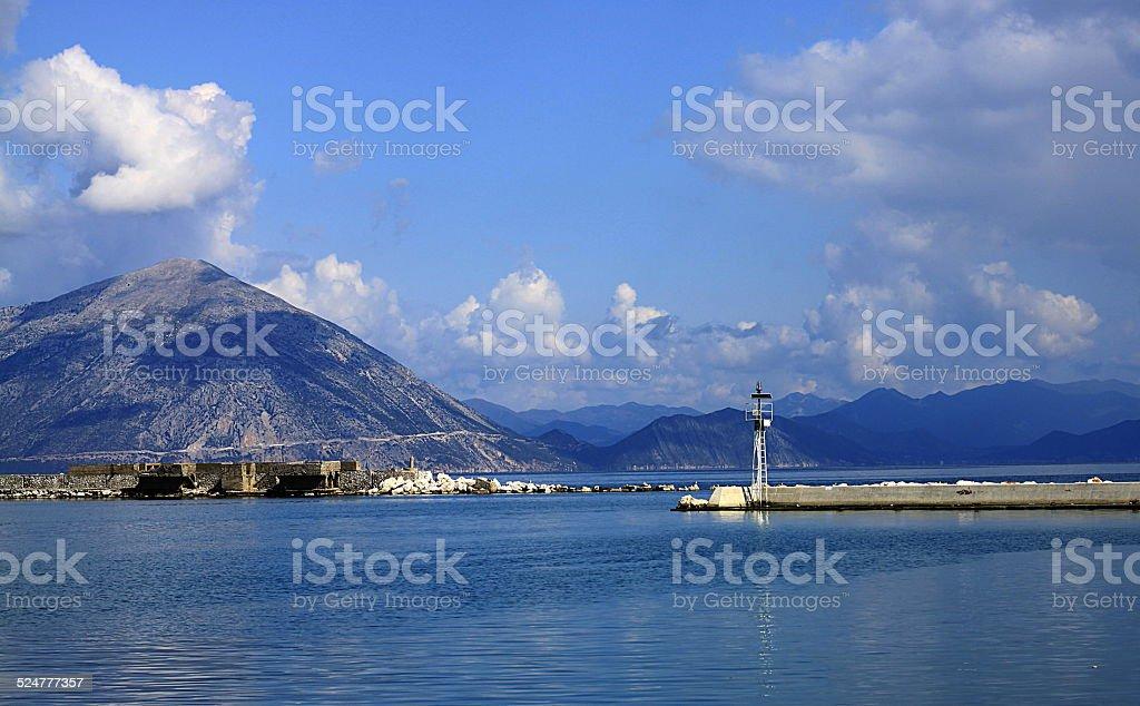 Patras greece dock stock photo
