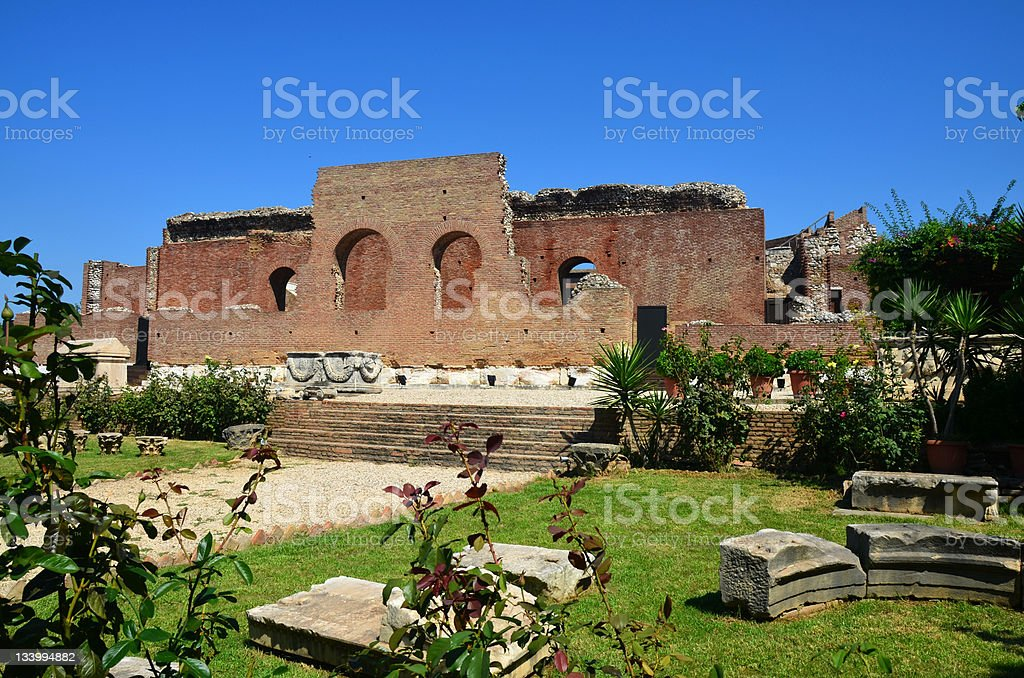 Patras Roman Odeon stock photo