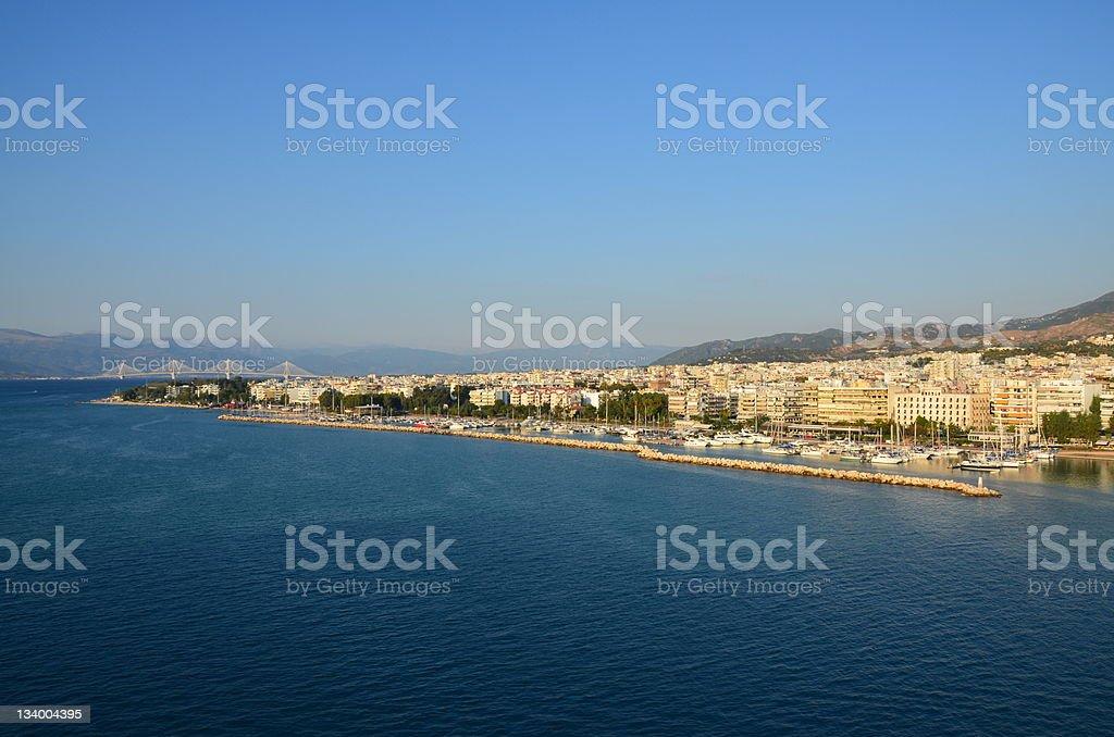 Patras Waterfront Harbor stock photo