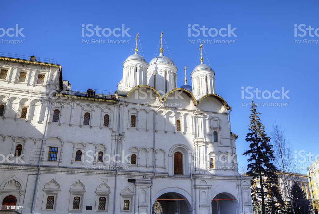Patriarch Palace and the Twelve Apostles Church. Moscow Kremlin, Russia stock photo
