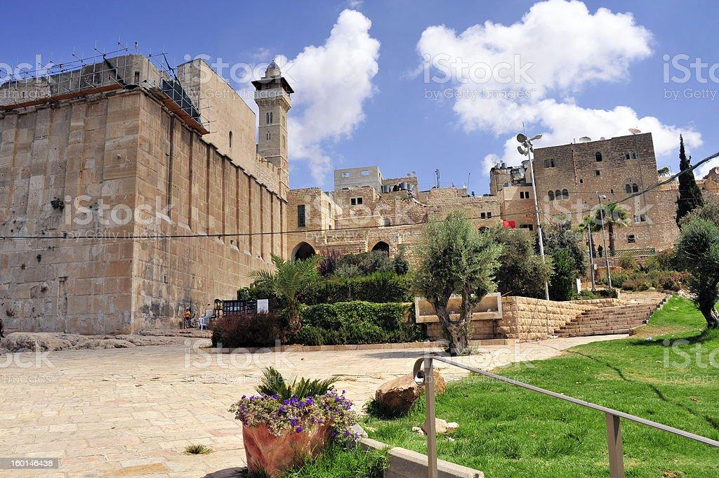 Patriarchs Cave in Hebron. stock photo