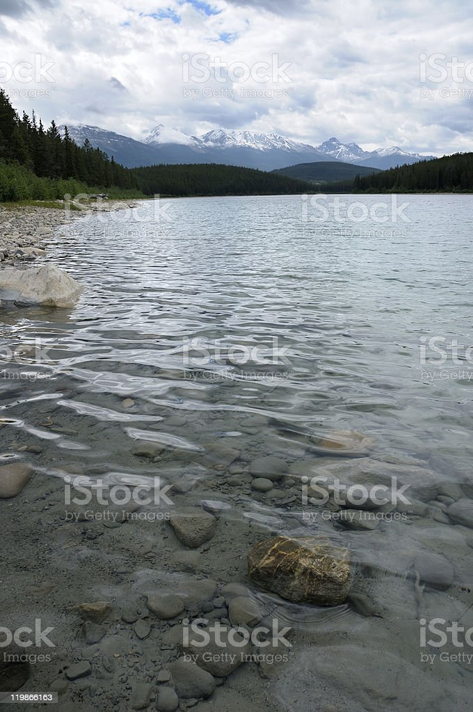 Patricia Lake in Jasper, Alberta (Canada) stock photo