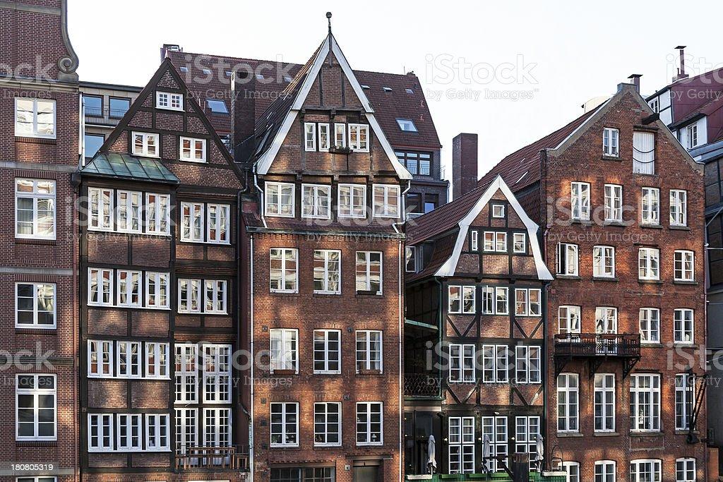 Patrician houses in Hamburg stock photo