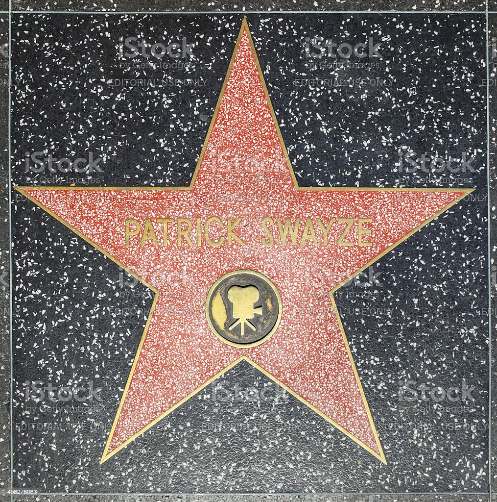 Patrick Swayzes star on Hollywood Walk of Fame royalty-free stock photo