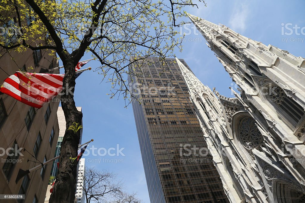 ST. Patrick's church in New York City stock photo
