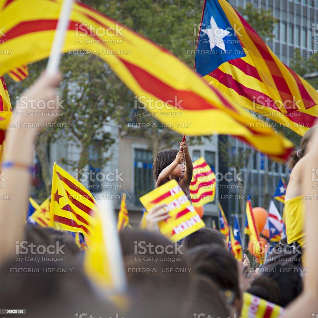 Patriot catalan boy stock photo