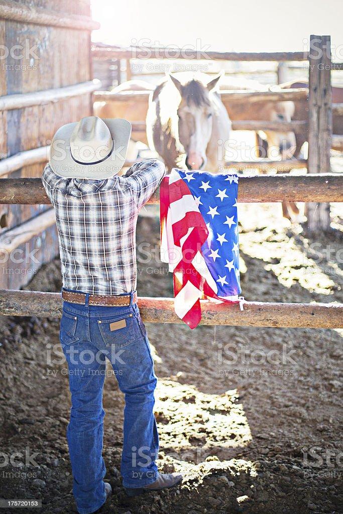 Patriot cowboy royalty-free stock photo
