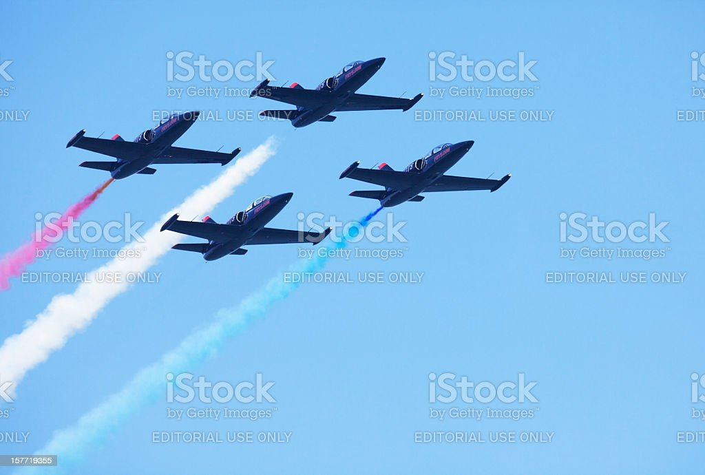 Patriot Jets Flying Team. royalty-free stock photo