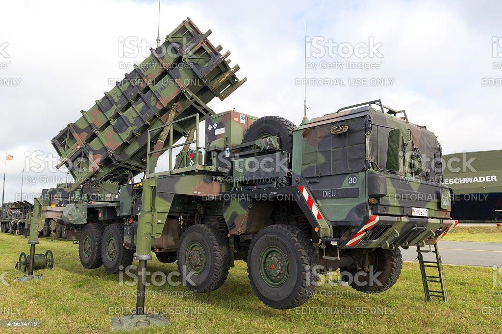 Patriot missile stock photo
