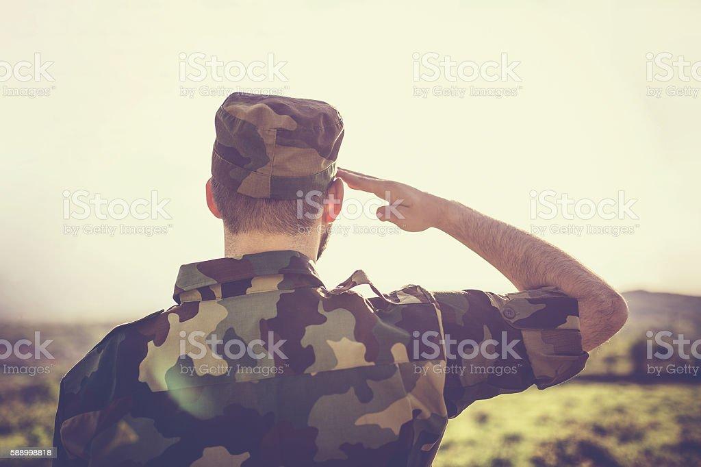 Patriot stock photo