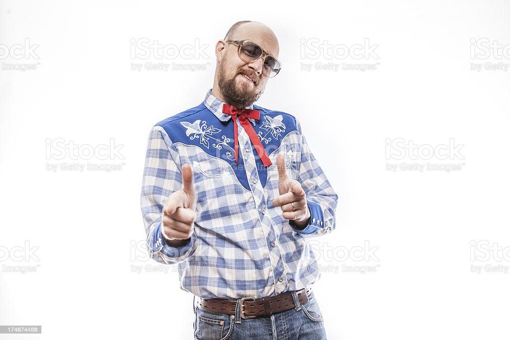Patriotic American Man royalty-free stock photo