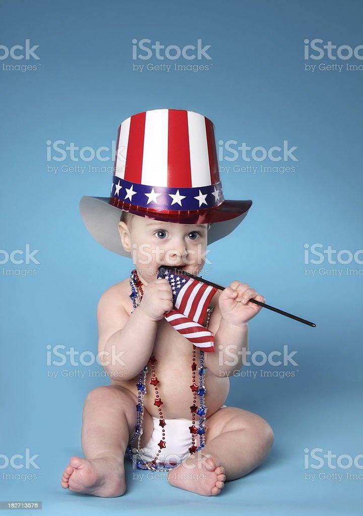 Patriotic Baby royalty-free stock photo