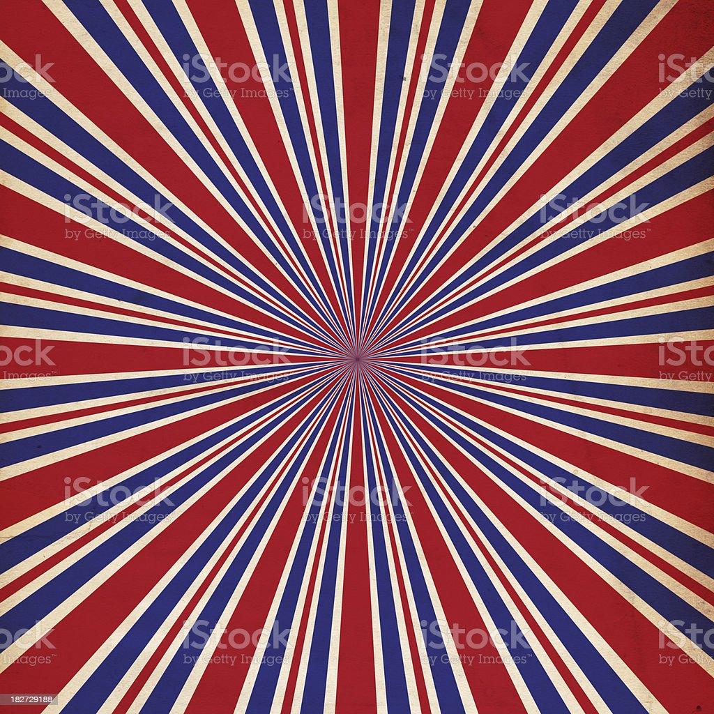 Patriotic Background Sunburst Paper - XXXL stock photo