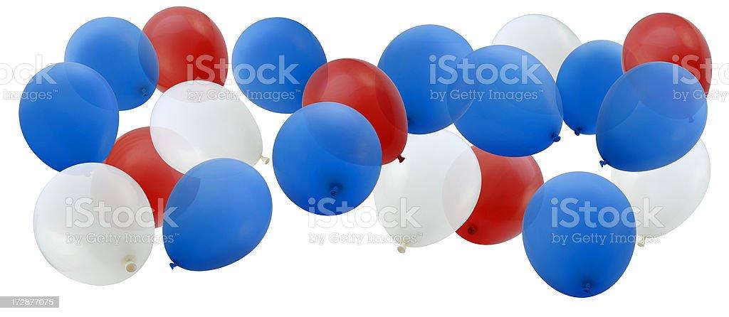 Patriotic Balloons stock photo