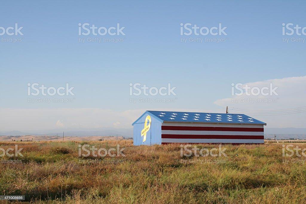 Patriotic Barn stock photo