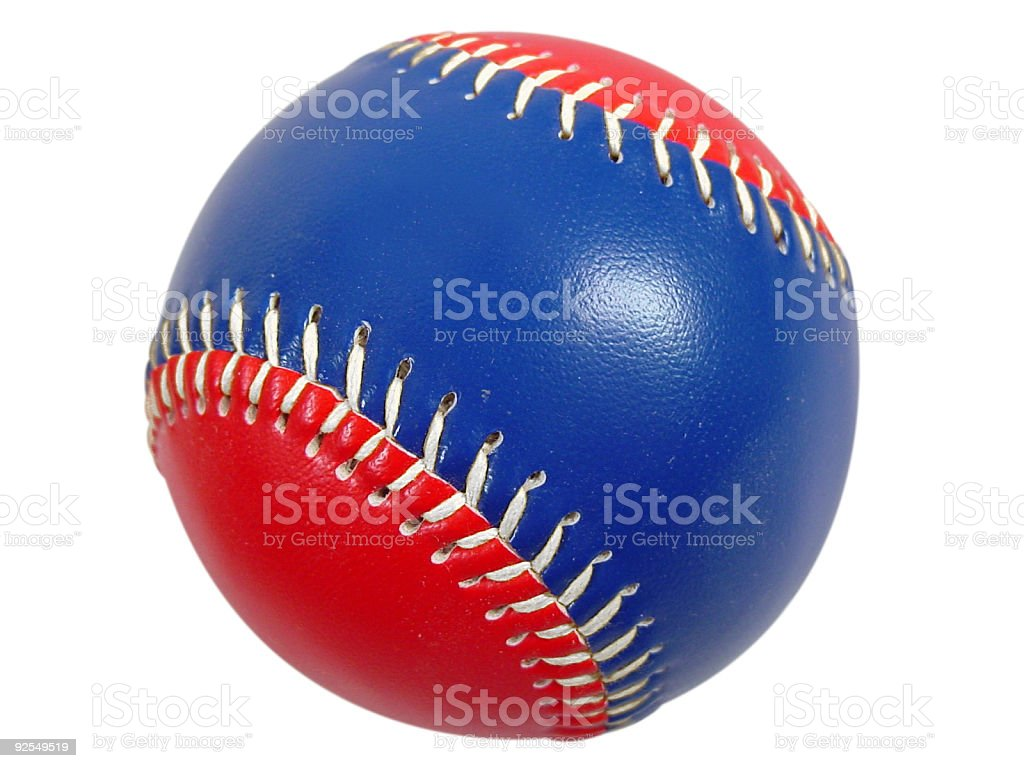 Patriotic Baseball Close Up Isolated stock photo