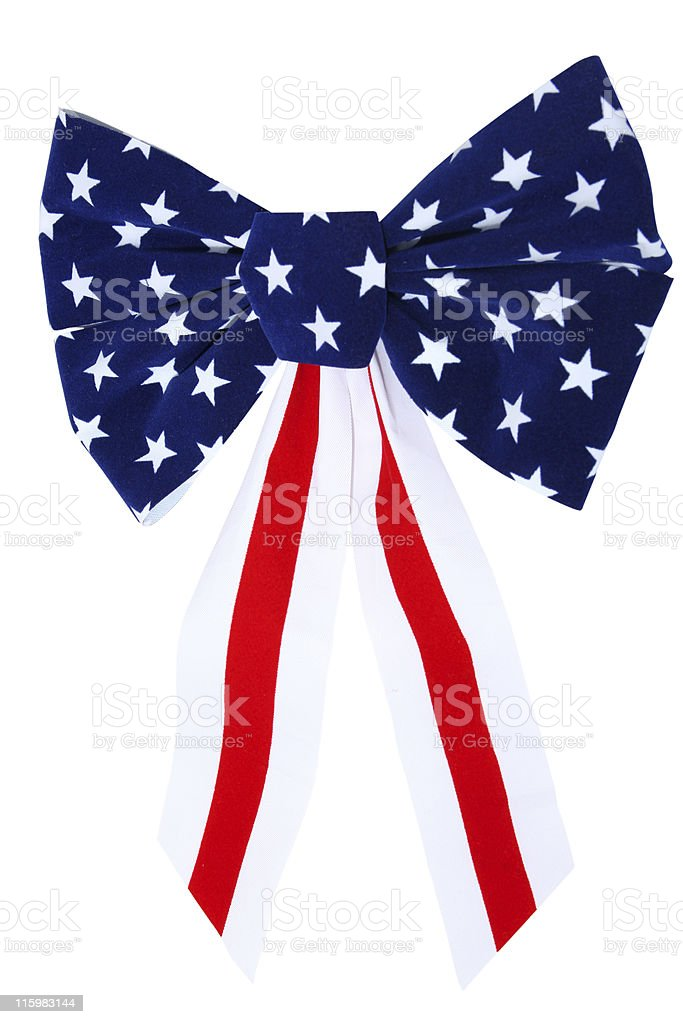 Patriotic bow royalty-free stock photo