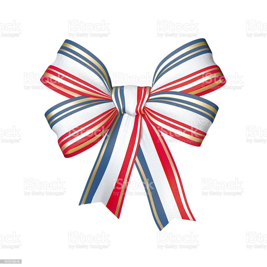 Patriotic bow stock photo