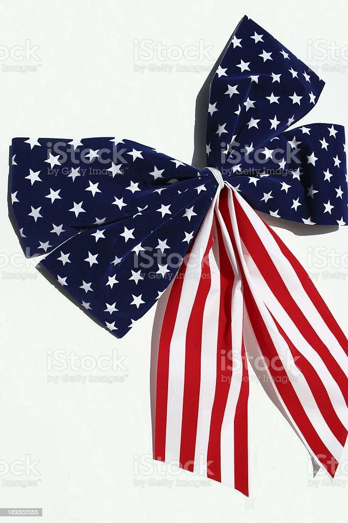 Patriotic Bow royalty-free stock photo