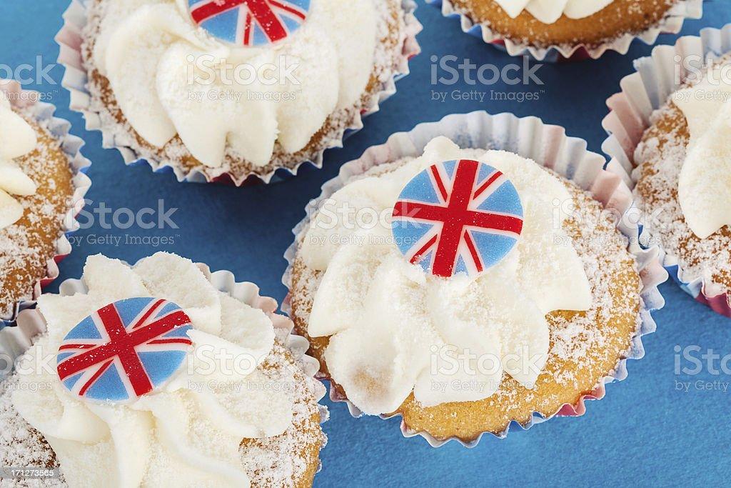 Patriotic British Cupcakes royalty-free stock photo