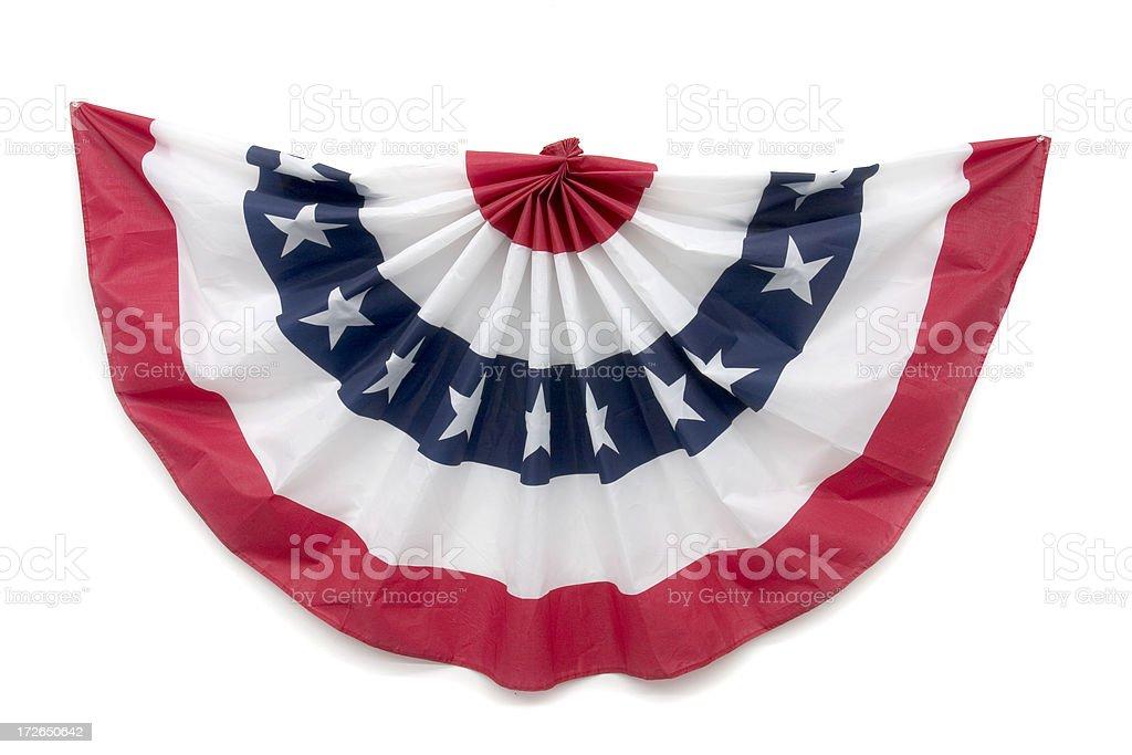 Patriotic Bunting Decoration stock photo