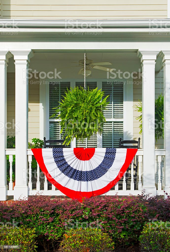 Patriotic Bunting Decorations royalty-free stock photo