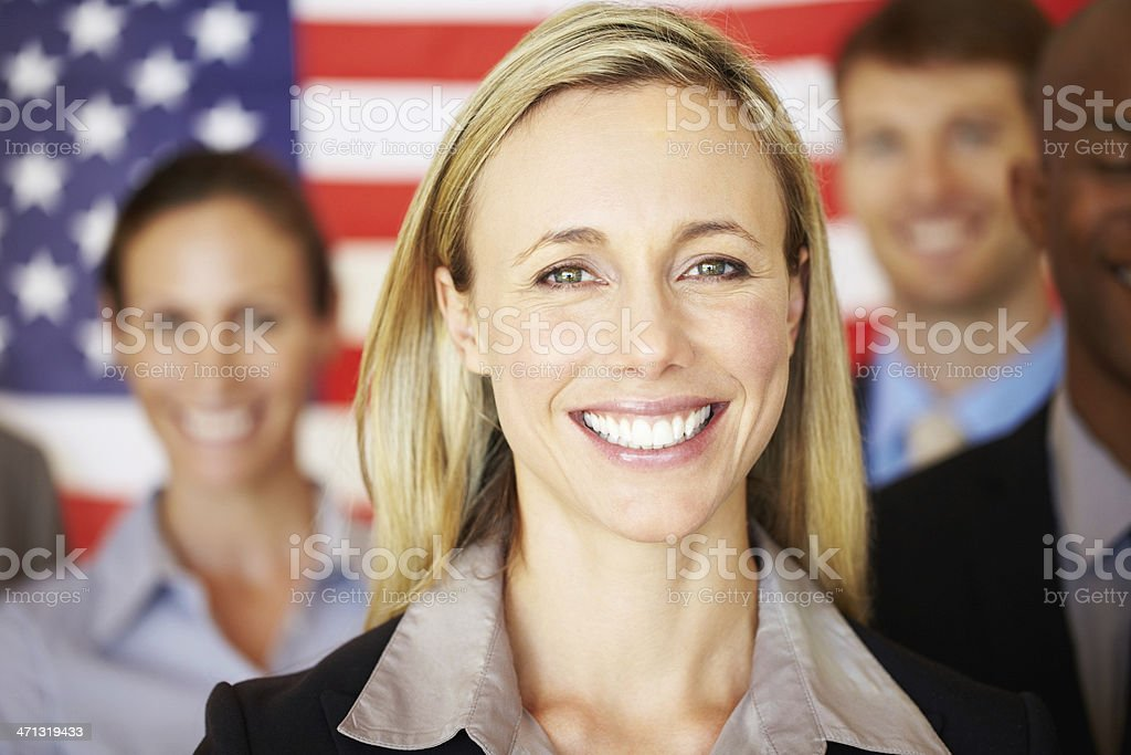 Patriotic business team royalty-free stock photo
