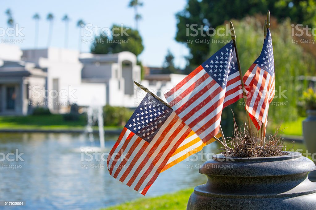 Patriotic Cemetery stock photo