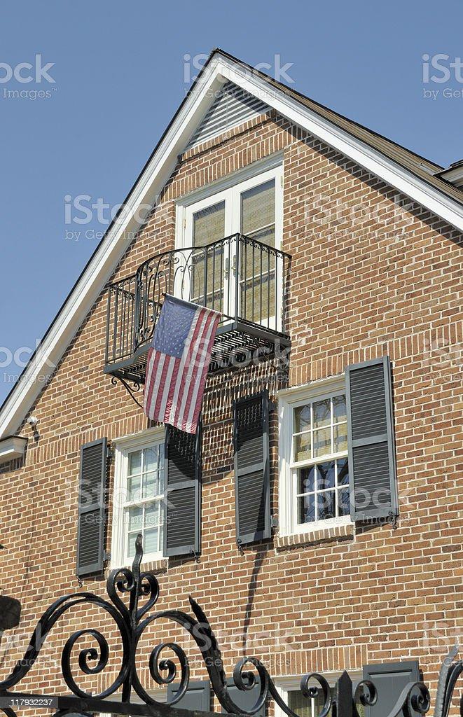 Patriotic Charleston, South Carolina stock photo