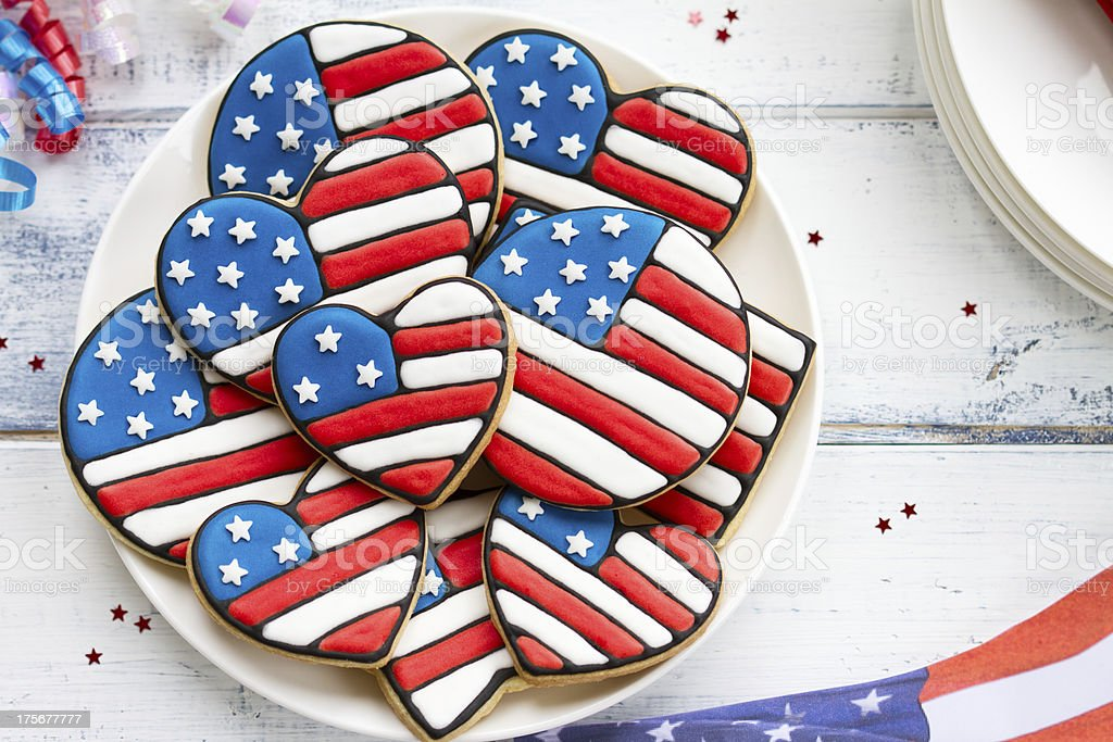 Patriotic cookies stock photo