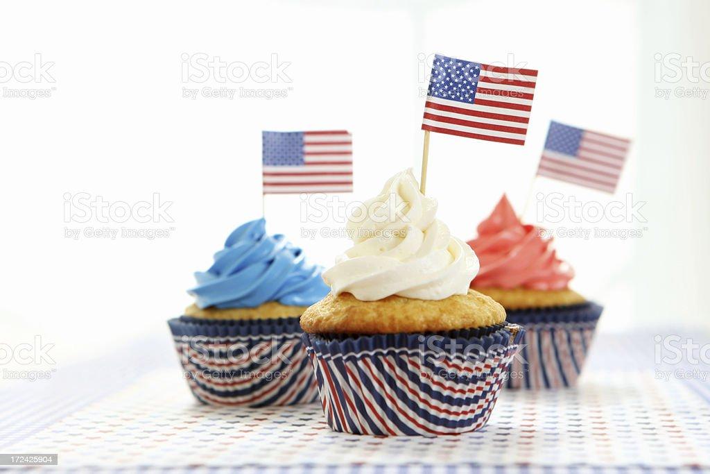 patriotic cupcakes royalty-free stock photo