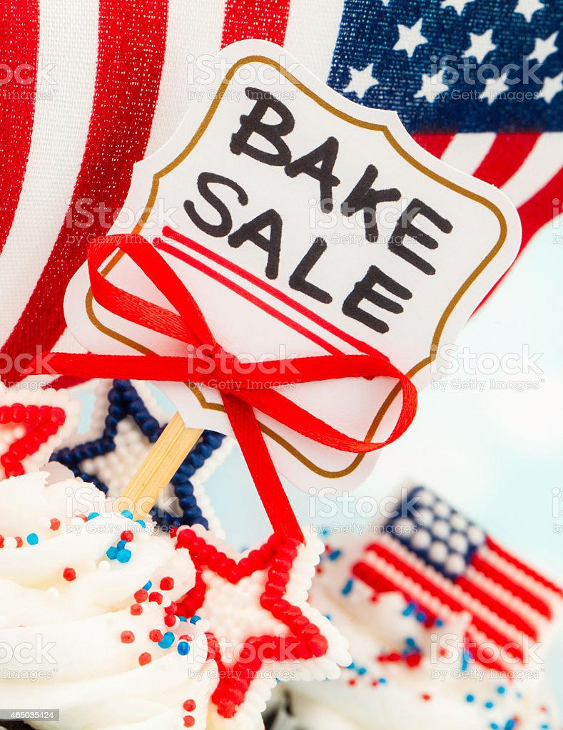 patriotic cupcakes sign advertising bake fundraising patriotic cupcakes sign advertising bake fundraising charity events royalty stock