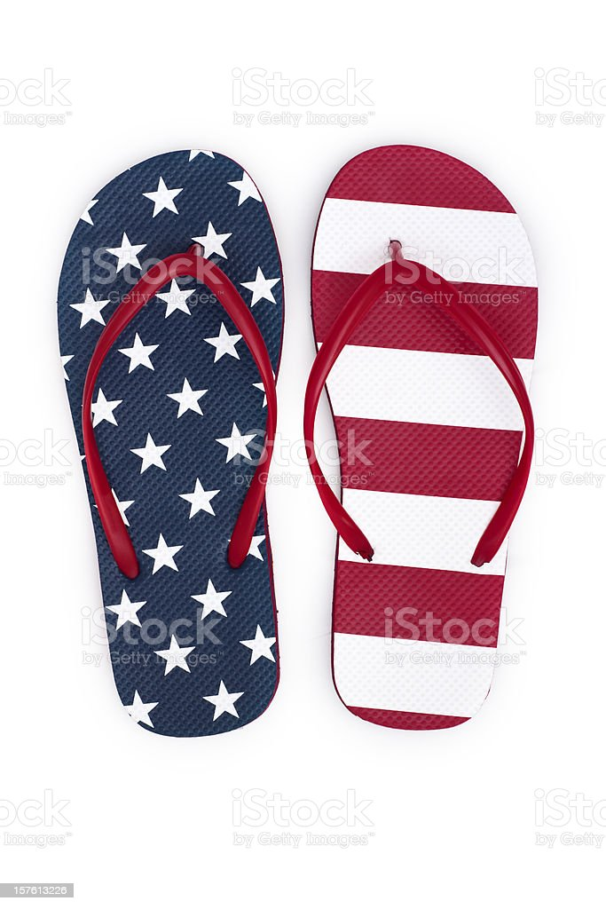 Patriotic Flip-Flops royalty-free stock photo