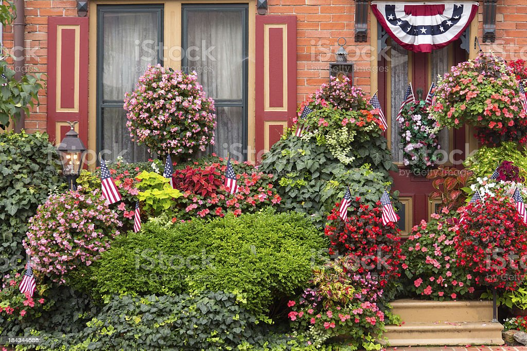 Patriotic Flower Garden royalty-free stock photo