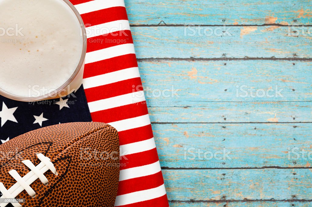 Patriotic Football Party stock photo
