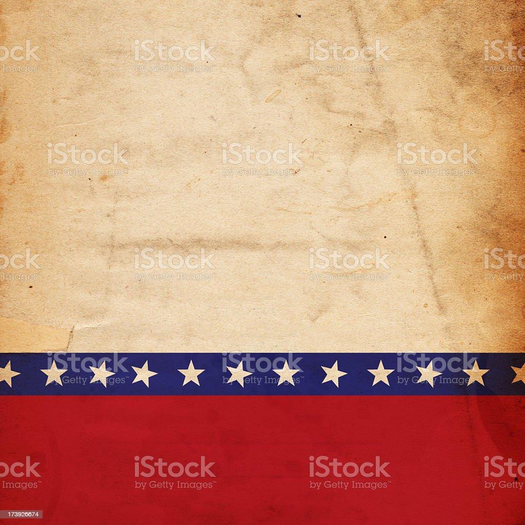Patriotic grunge paper background stock photo