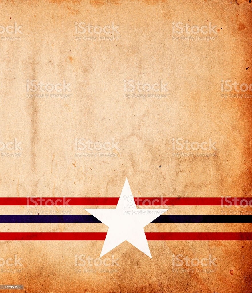 Patriotic grunge paper background with Stars and Stripes stock photo