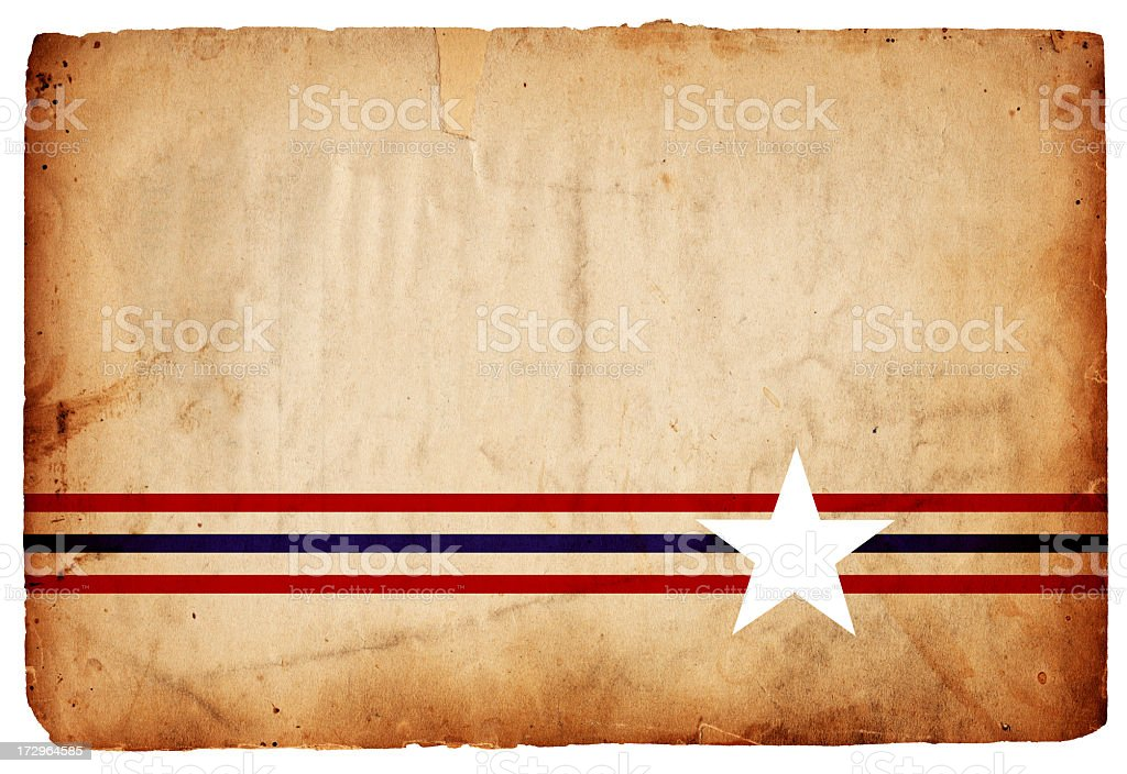 Patriotic Grunge Paper: Star Stripes XXXL royalty-free stock photo