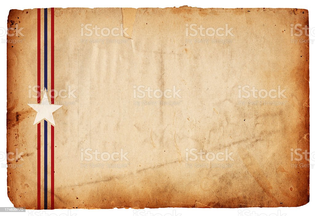 Patriotic Grunge Paper: Star Stripes XXXL stock photo