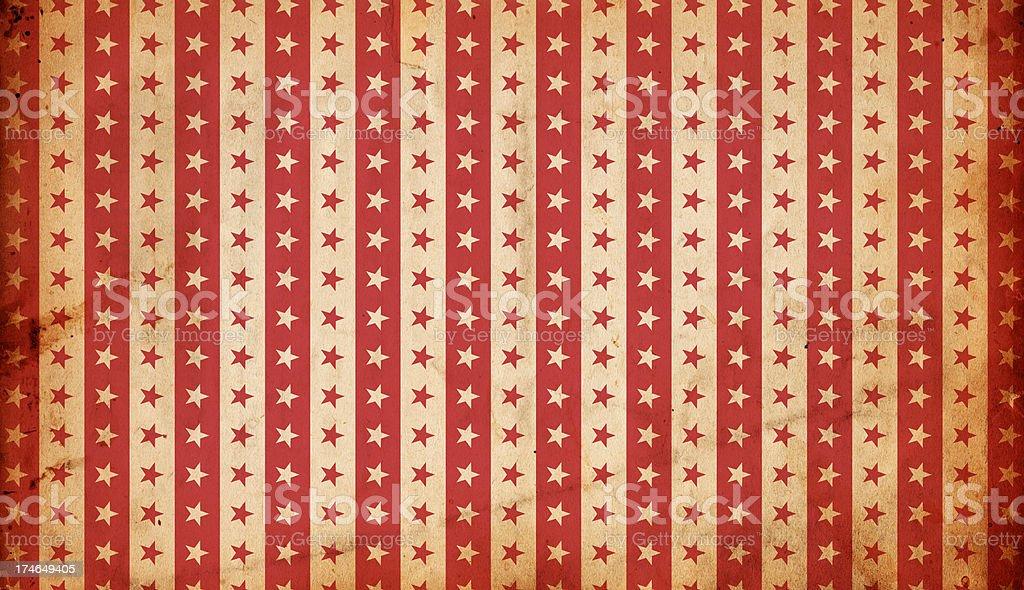 Patriotic Grunge Paper: Stars and Stripes XXXL Background stock photo