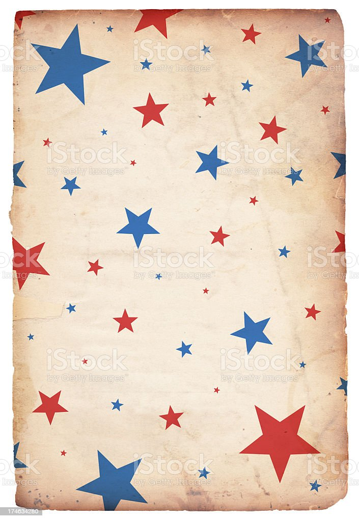 Patriotic Grunge Star Paper XXXL stock photo