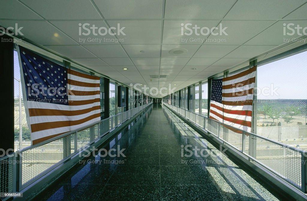 Patriotic Hallway royalty-free stock photo