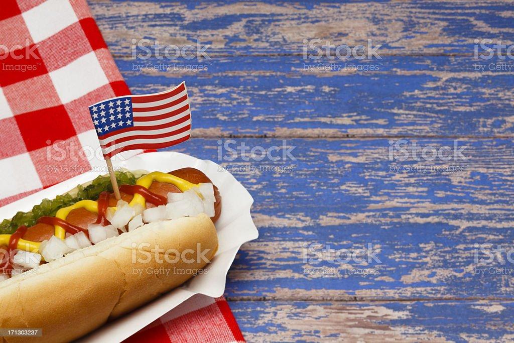 Patriotic Hotdog royalty-free stock photo