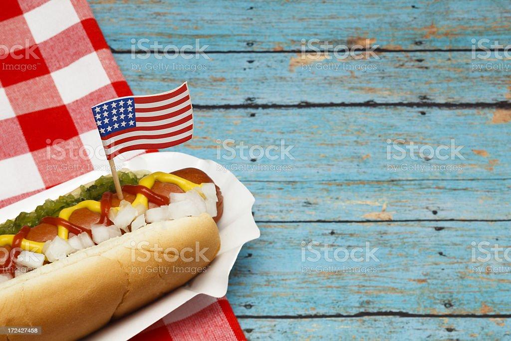 Patriotic Hotdog stock photo