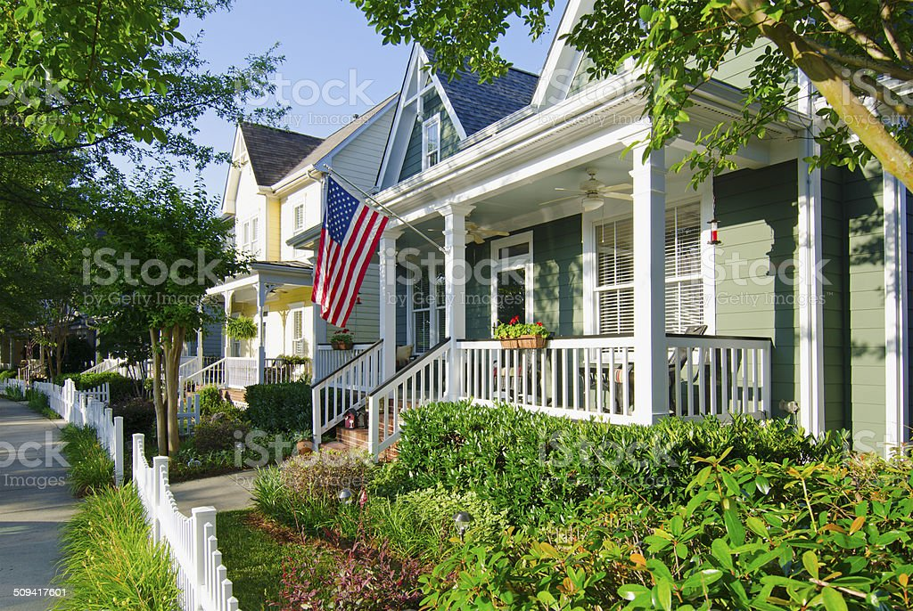 Patriotic House stock photo