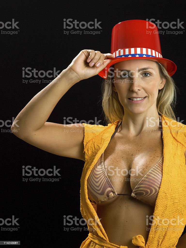 Patriotic Lady stock photo